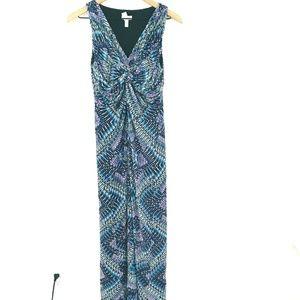 Chico's Twist Front V-Neck Maxi Dress